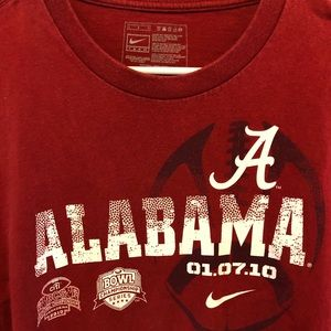 Nike Men's Long Sleeve Alabama BCS 2010 T-Shirt